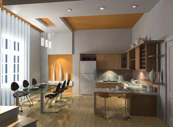 Vách thạch cao cho phòng bếp