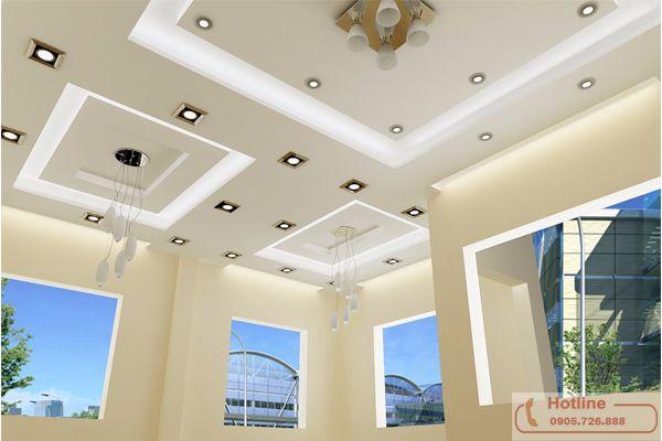 Phòng khách lộng lẫy khi sử dụng trần thạch cao