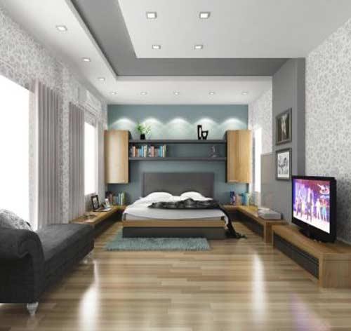 Vách thạch cao giúp căn phòng ngủ sang trọng hơn