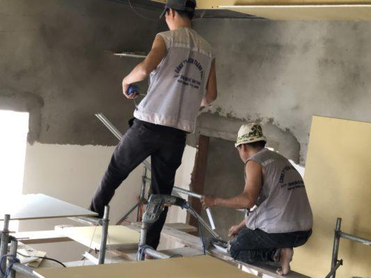Đội ngũ thi công trần thạch cao Thiên Thành Phát