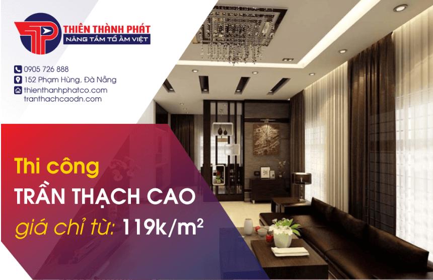 Thi công thạch cao giá từ 189k/m2