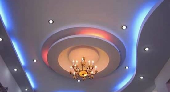 Mẫu trần có đèn ngủ phòng khách